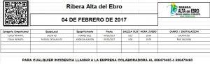 11 JORNADA AUTOBUSES 4 FEBRERO DE 2017