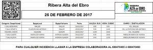 14 JORNADA AUTOBUSES 25 FEBRERO DE 2017